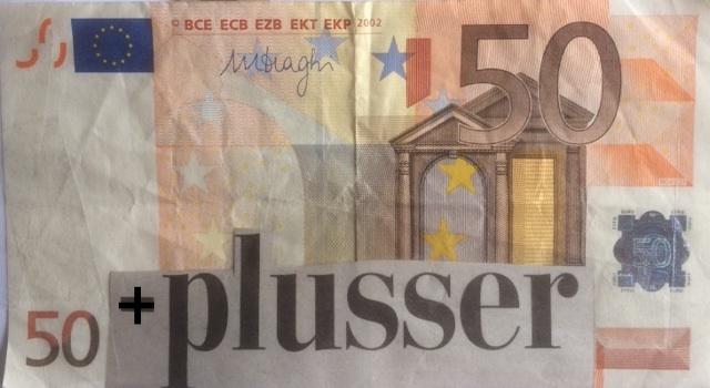 Euro 50 plusser biljet